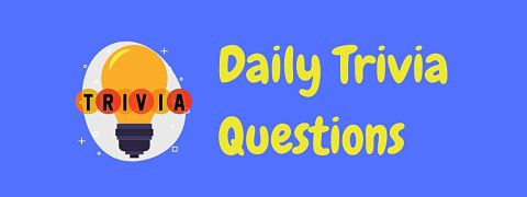 Header image for a page of daily trivia questions.