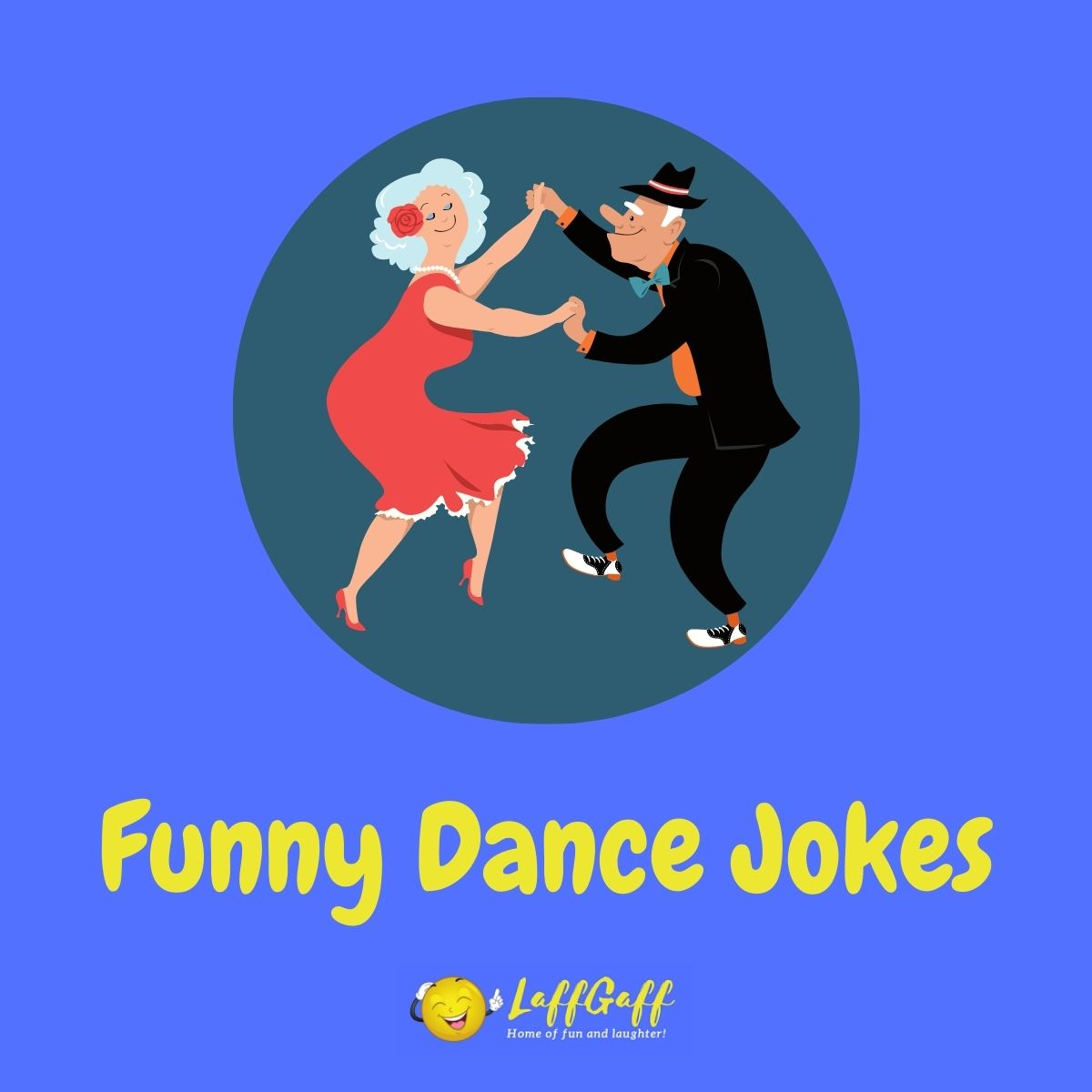 Featured image for a page of funny dancing and dance jokes.