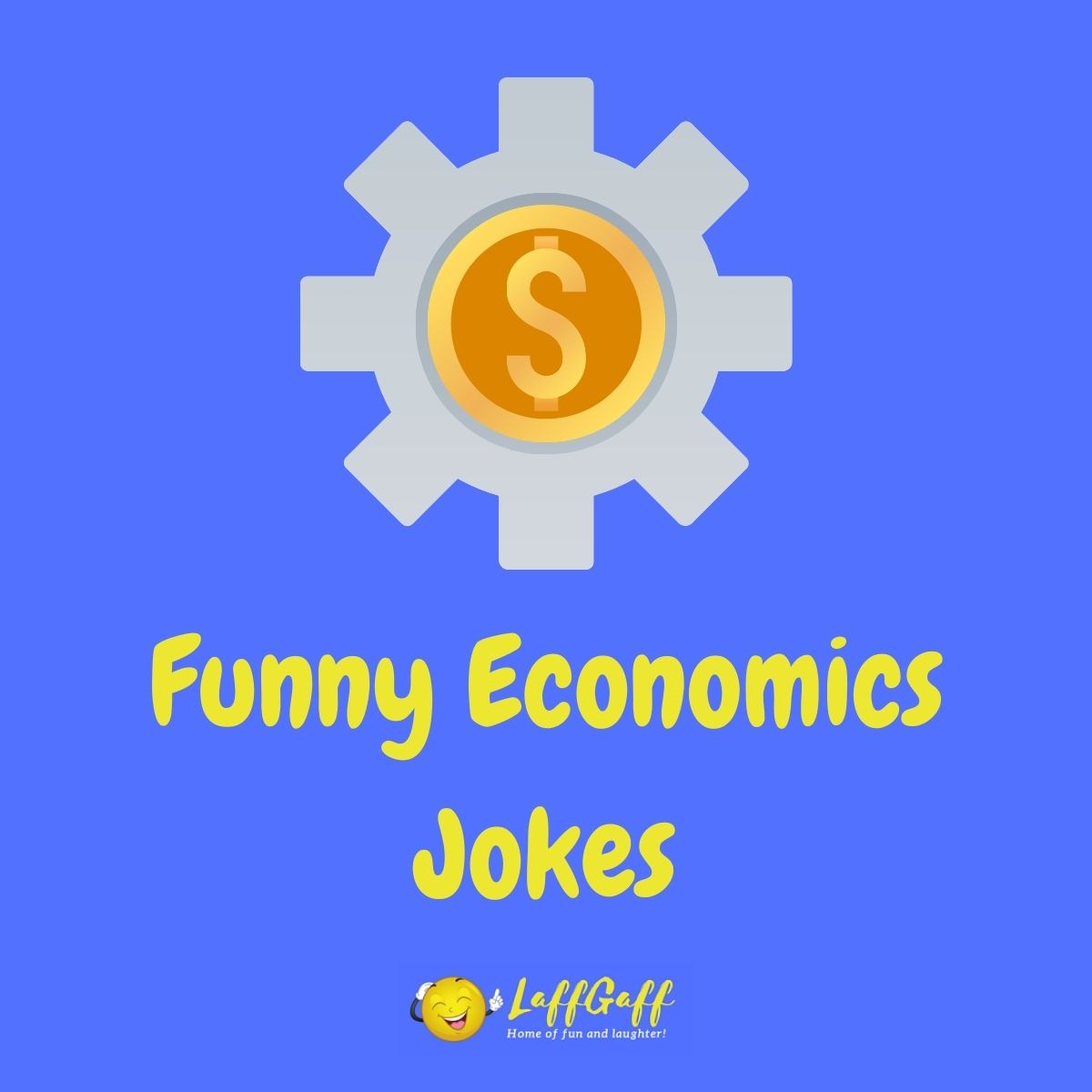 Featured image for a page of funny economics jokes and puns.