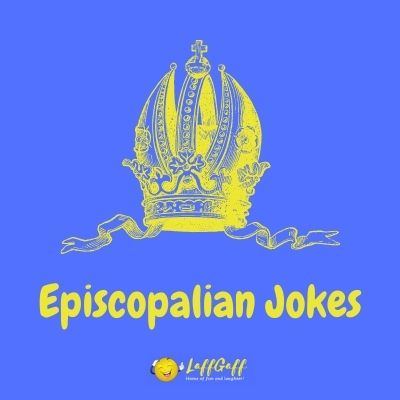 Featured image for a page of funny Episcopalian jokes.