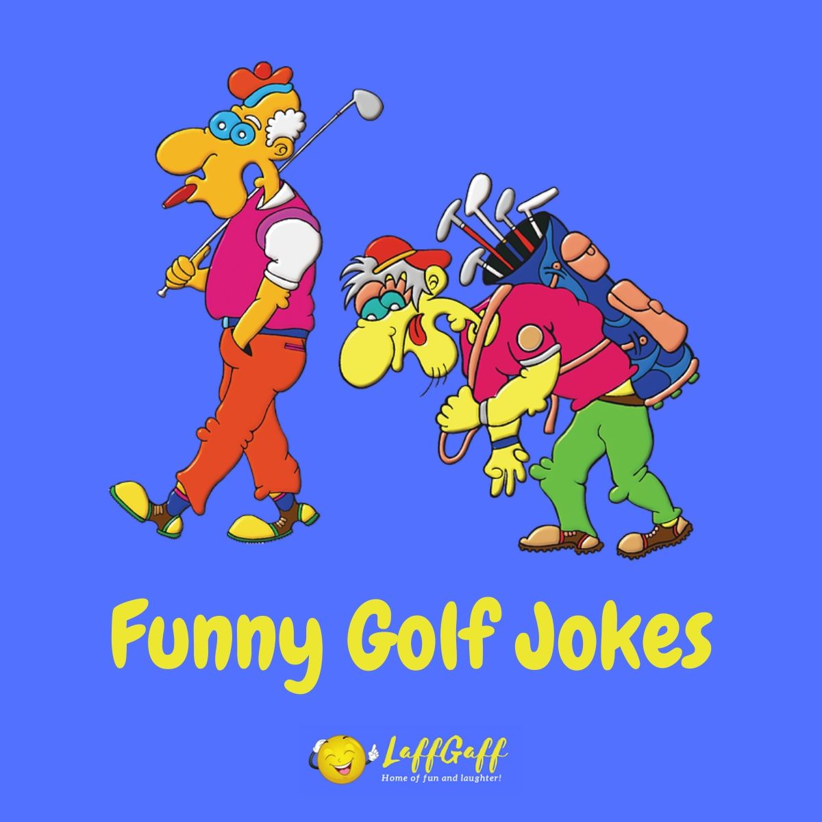Featured image for a page of funny golf jokes and humor.