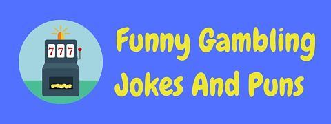 Header image for a page of funny gambling jokes and puns.