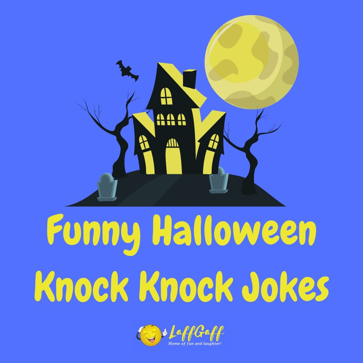 Featured image for a page of scarily funny Halloween knock knock jokes.