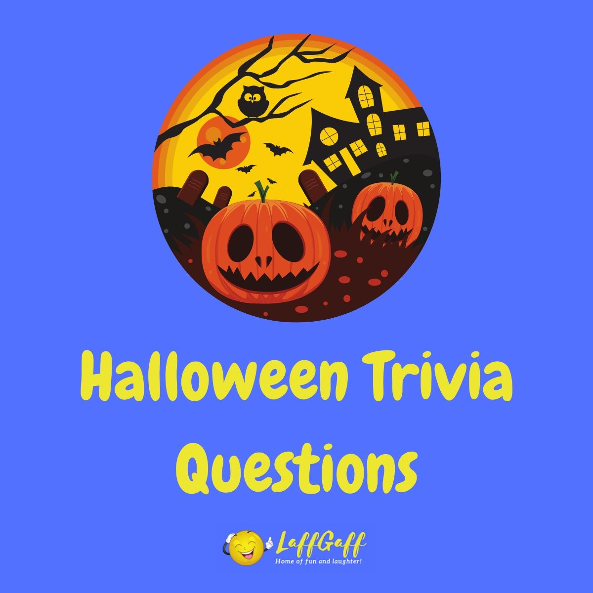 Featured image for a page of Halloween trivia questions and answers.