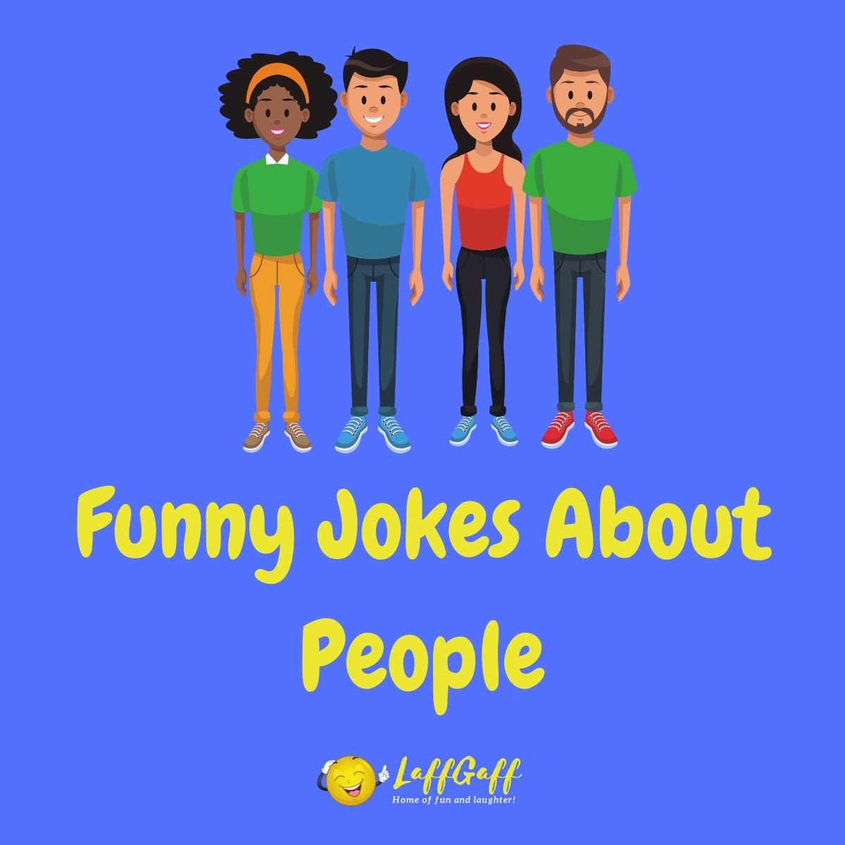 Featured image for a page of collections of funny jokes about people.