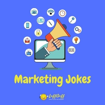 Featured image for a page of funny marketing jokes and puns.