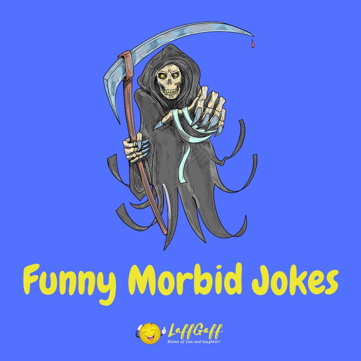 Featured image for a page of darkly morbid jokes and humor.