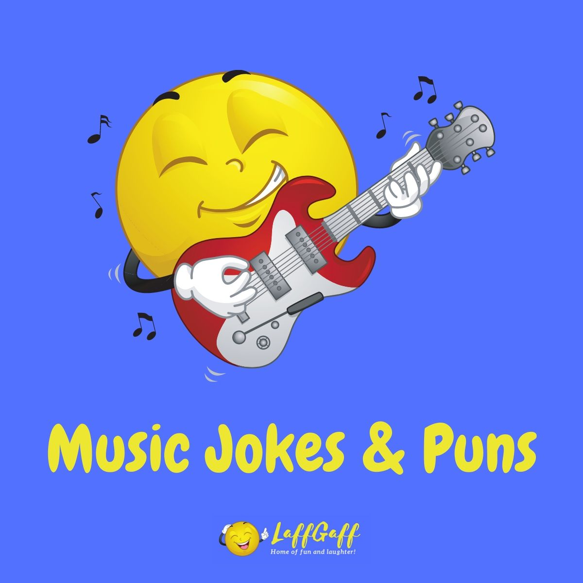Featured image for a page of funny music jokes and puns.