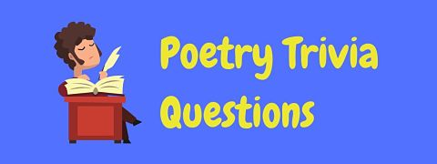 Header image for a page of poetry trivia questions and answers.