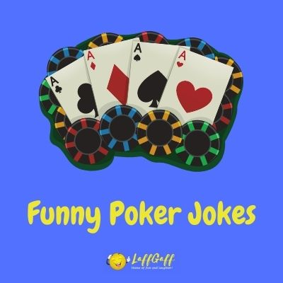 Featured image for a page of funny poker jokes and puns.