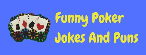 Header image for a page of funny poker jokes and puns.