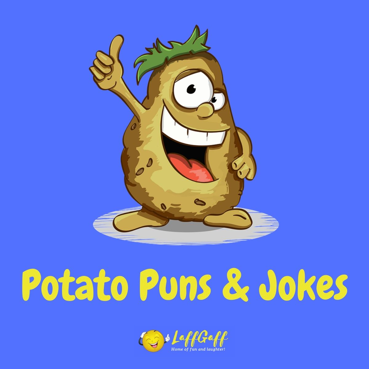 Featured image for a page of funny potato puns and jokes.