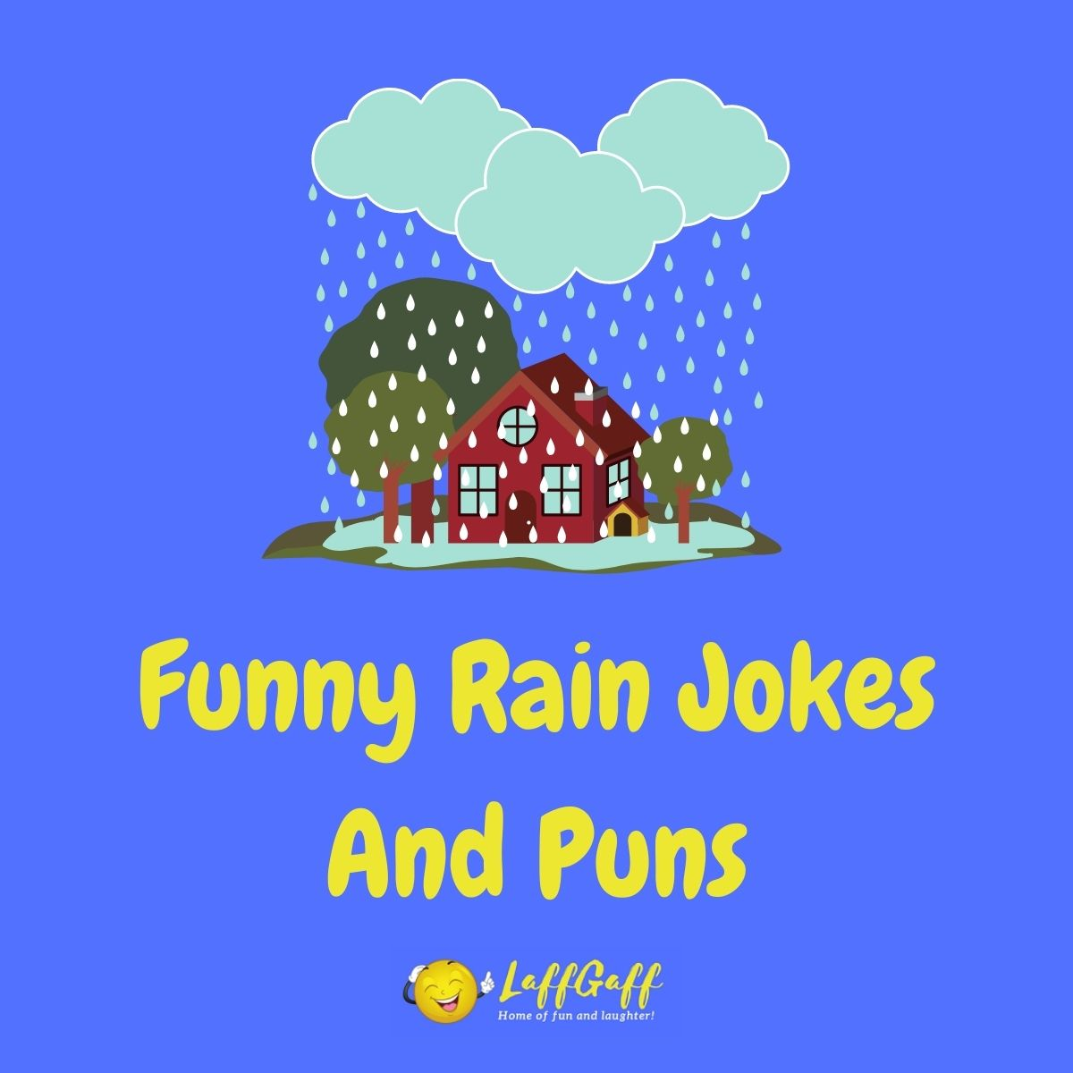 Featured image for a page of funny rain jokes and puns.