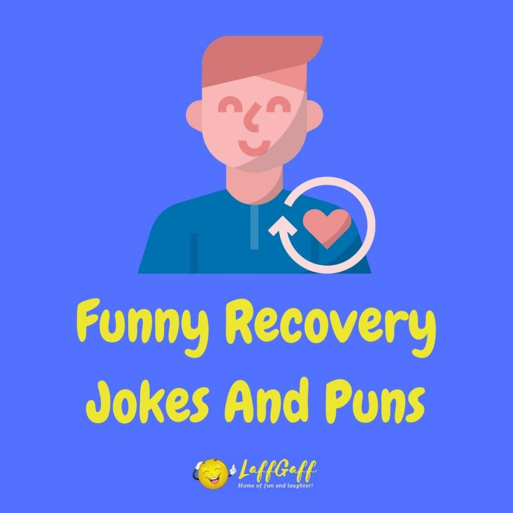 Featured image for a page of funny recovery jokes and puns.