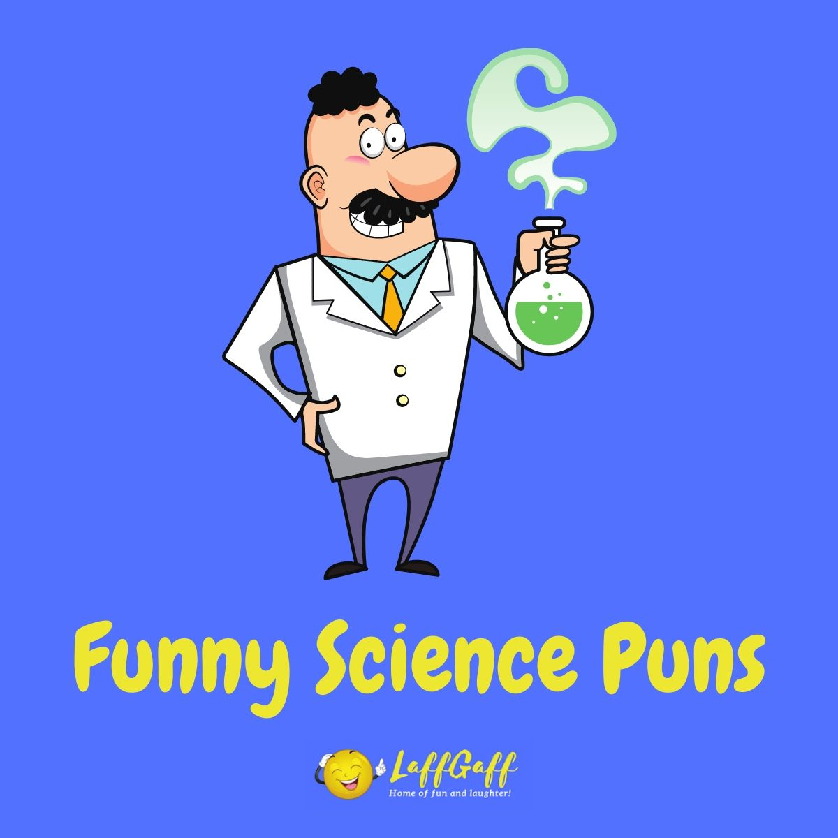 Featured image for a page of funny science puns.
