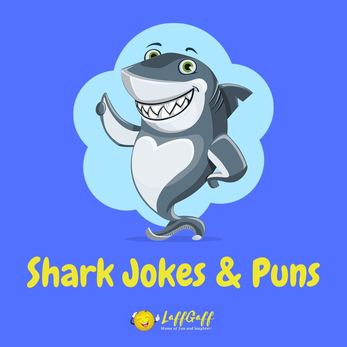 Featured image for a page of funny shark jokes and puns.