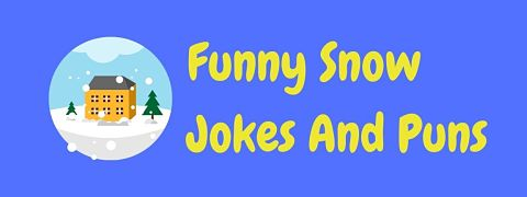 Header image for a page of funny snow jokes and puns.