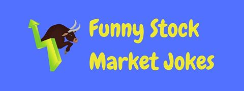 Header image for a page of funny stock market jokes.