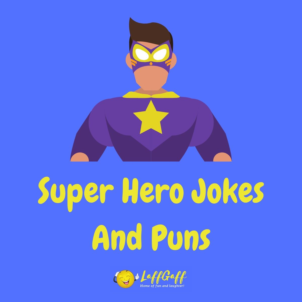 Featured image for a page of funny super hero jokes and puns.