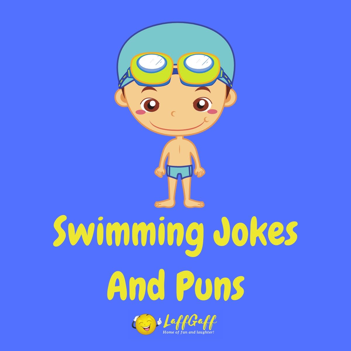 Featured image for a page of funny swimming puns and jokes.
