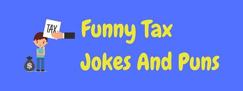 Header image for a page of funny tax jokes.