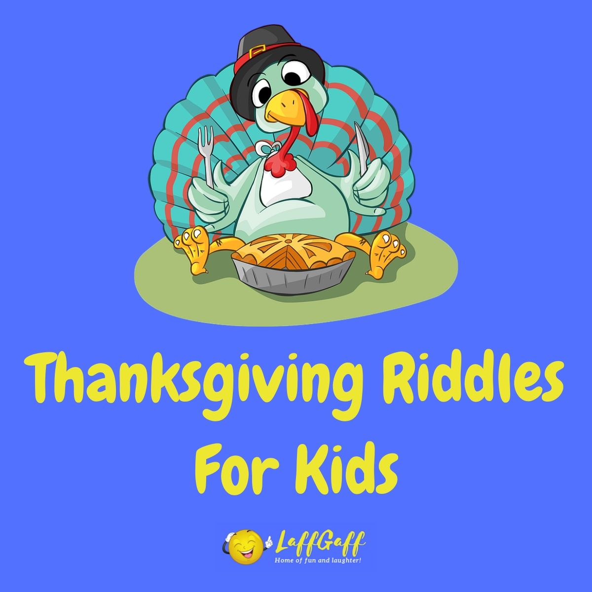 Featured image for a page of fun free Thanksgiving riddles for kids.