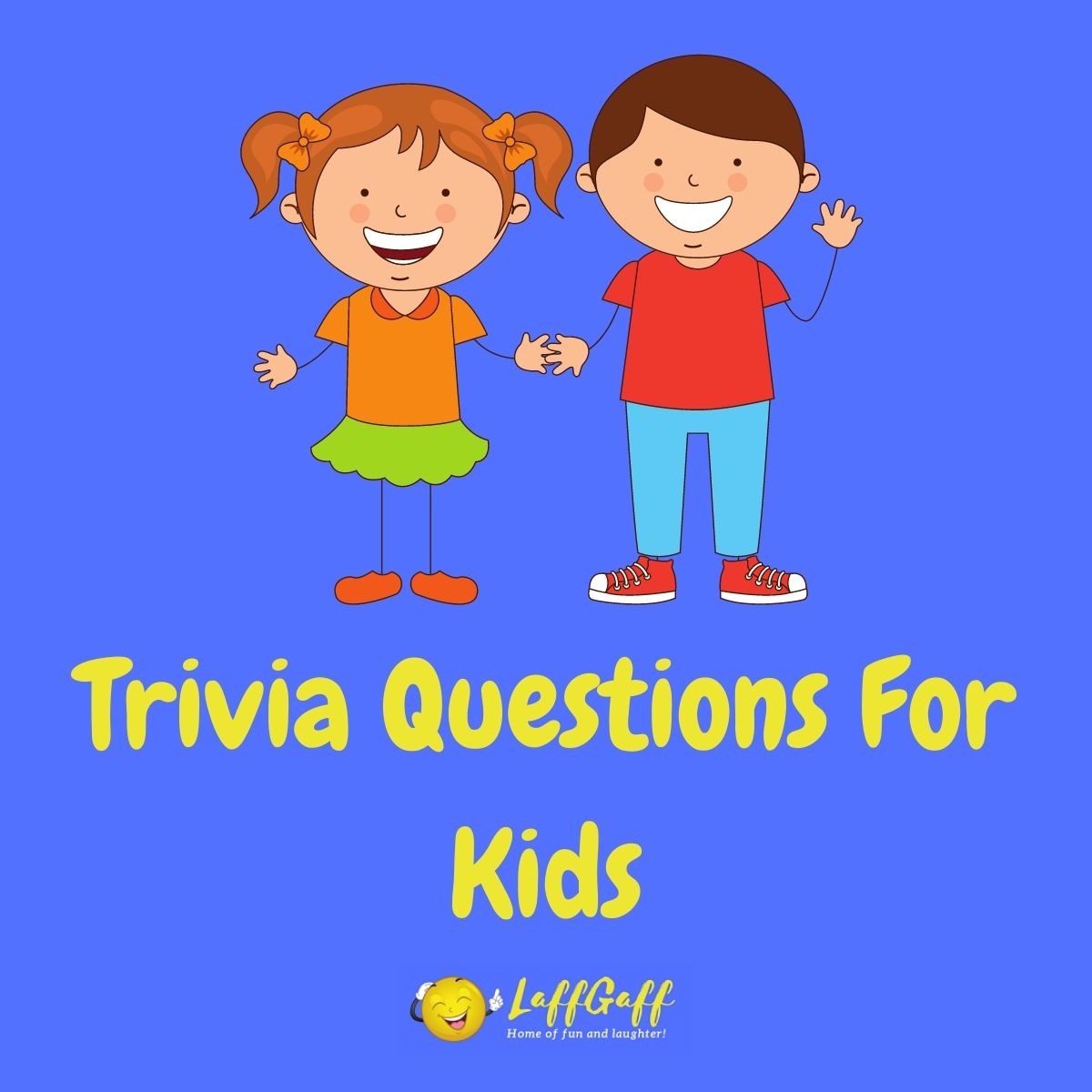 Featured image for a page of fun free trivia questions for kids.
