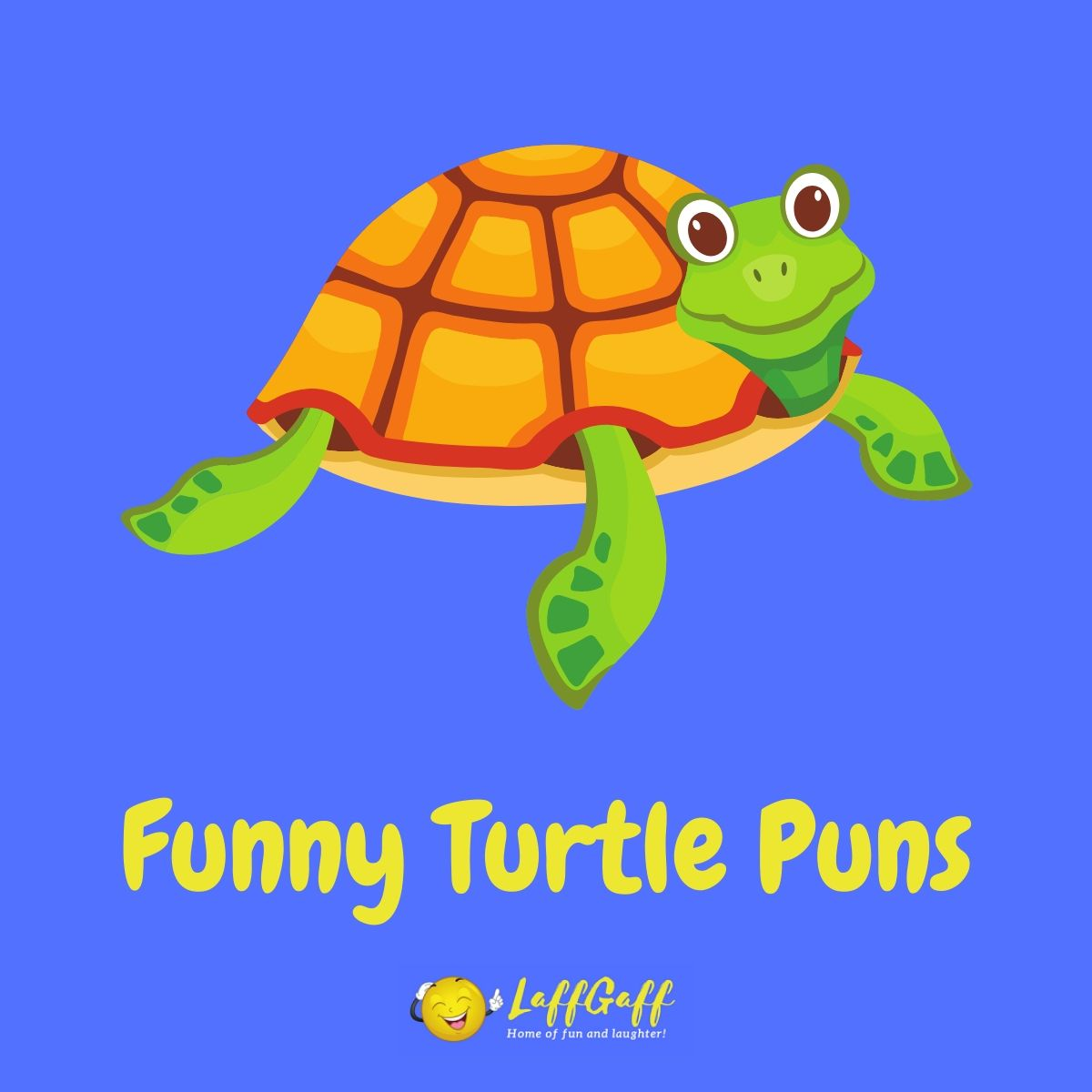 Featured image for a page of funny turtle puns and jokes.