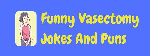 Header image for a page of funny vasectomy jokes and puns.