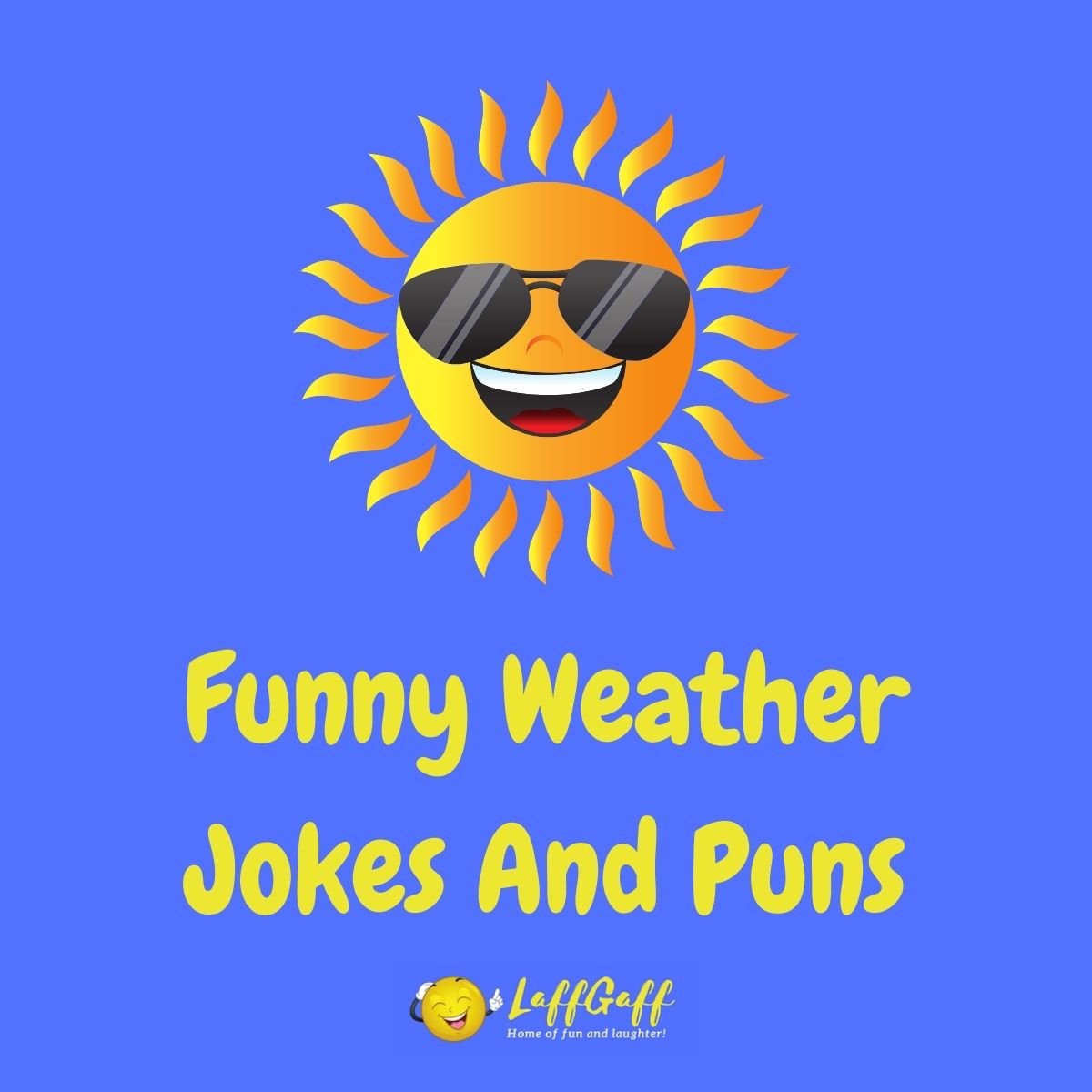 Featured image for a page of funny weather jokes and puns.