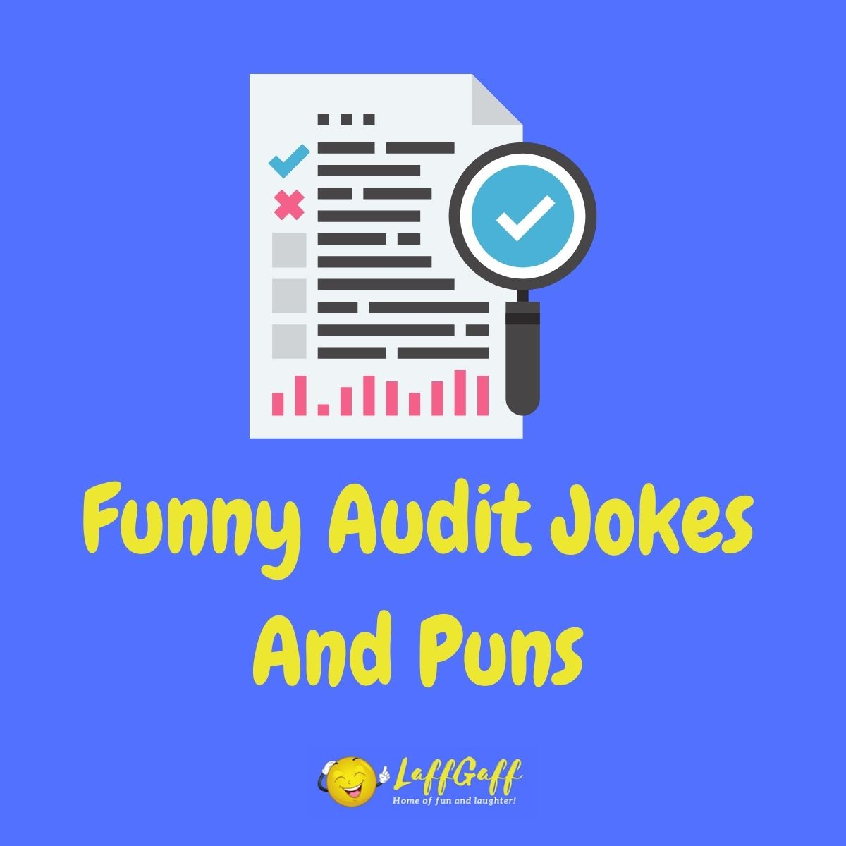 Featured image for a page of funny audit jokes and puns.