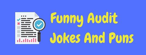 Header image for a page of funny audit jokes and puns.