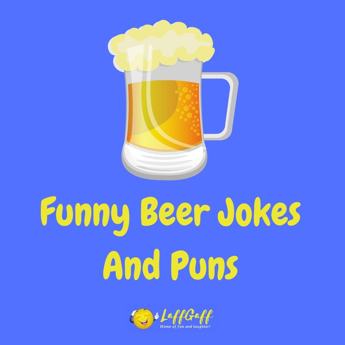 Featured image for a page of funny beer jokes and puns.