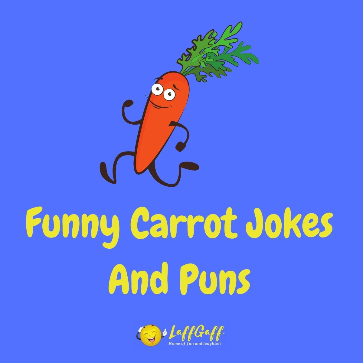Featured image for a page of funny carrot jokes and puns.