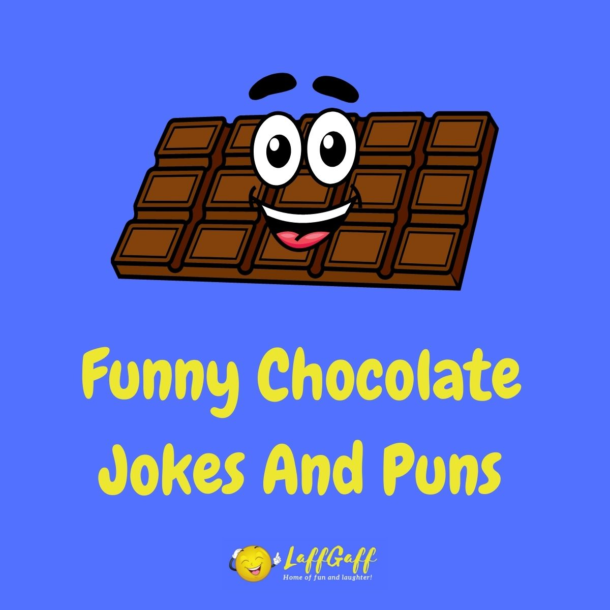 Featured image for a page of funny chocolate jokes and puns.