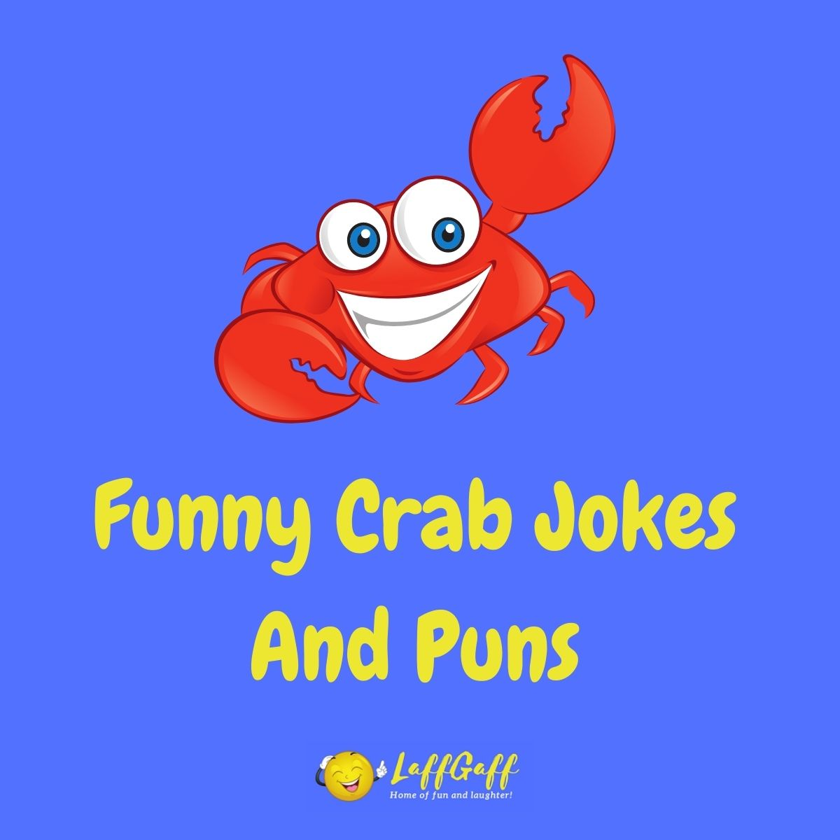 Featured image for a page of funny crab jokes and puns.