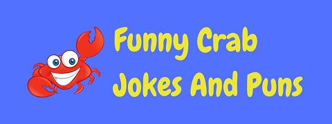Header image for a page of funny crab jokes and puns.