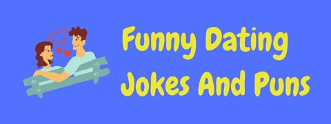 Header image for a page of funny dating jokes and puns.