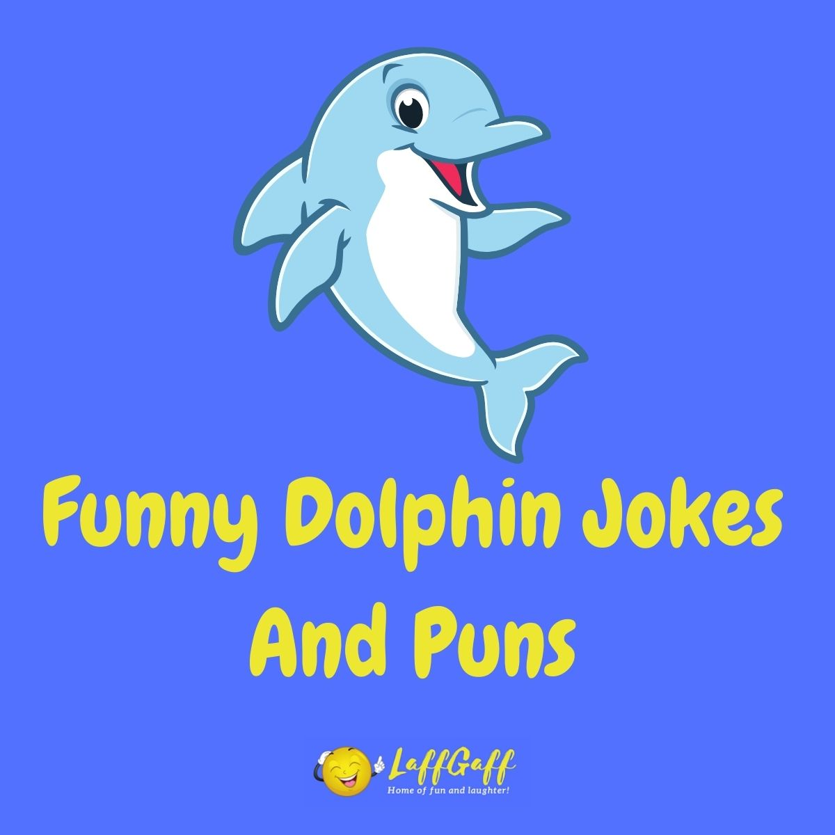 Featured image for a page of funny dolphin jokes and puns.