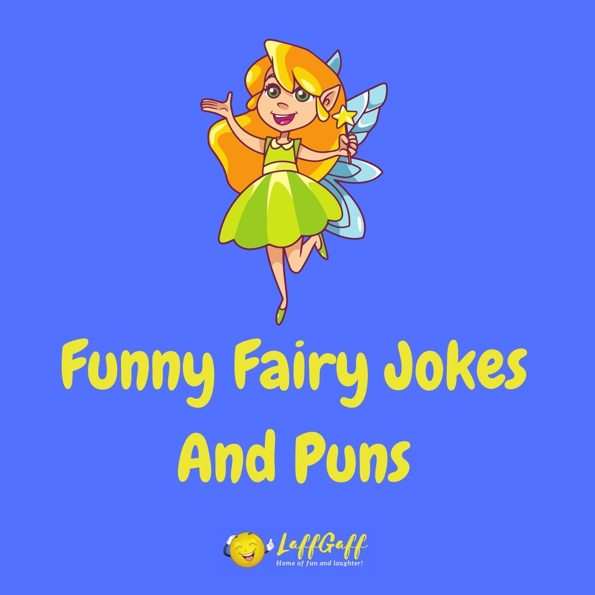 Featured image for a page of funny fairy jokes and puns.