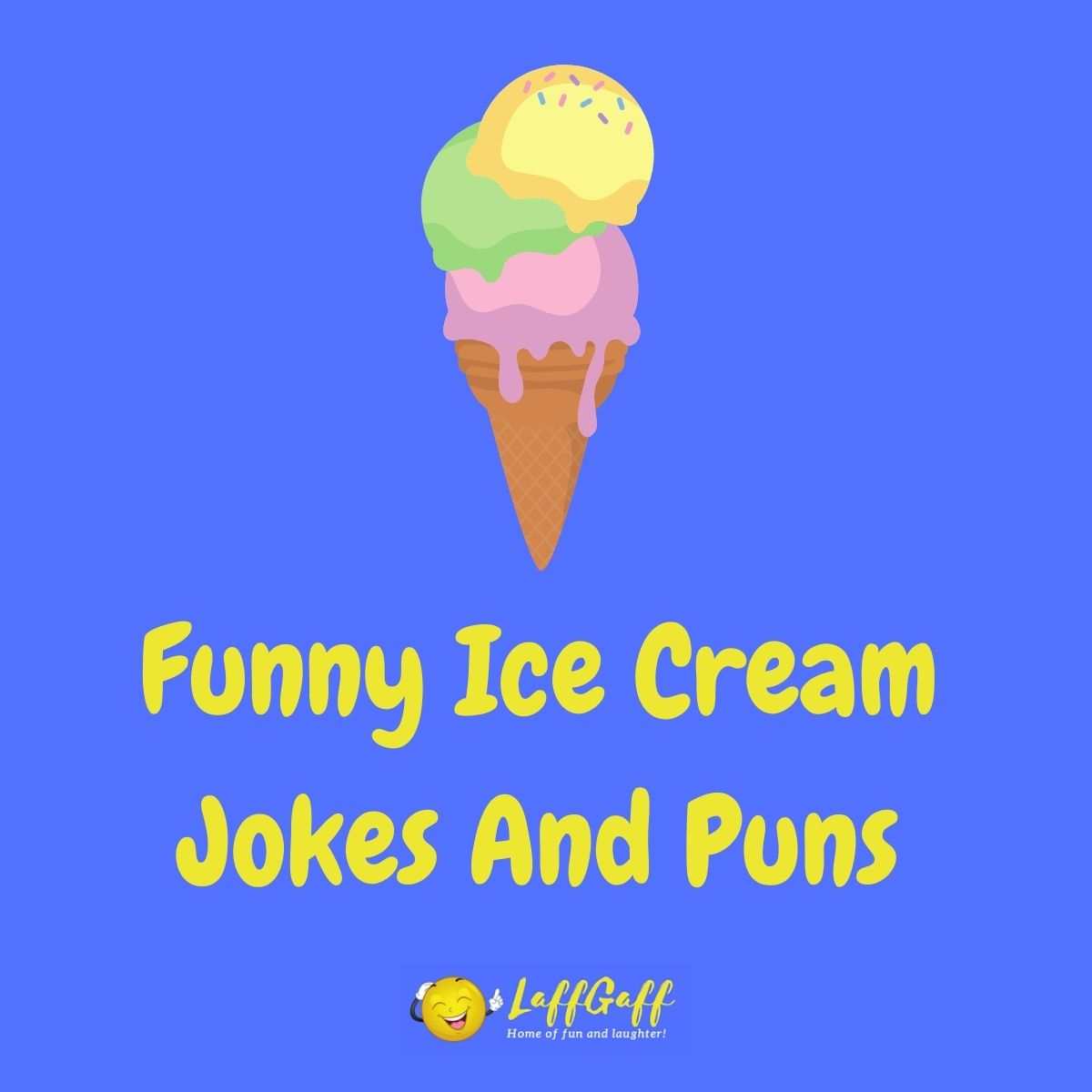Featured image for a page of funny ice cream jokes and puns.