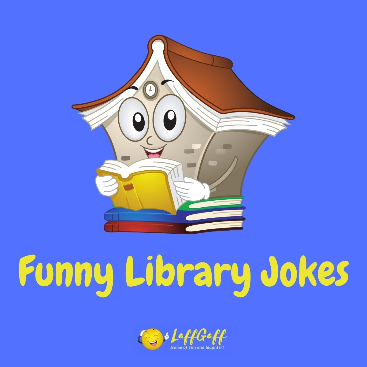 Featured image for a page of funny library jokes and puns.