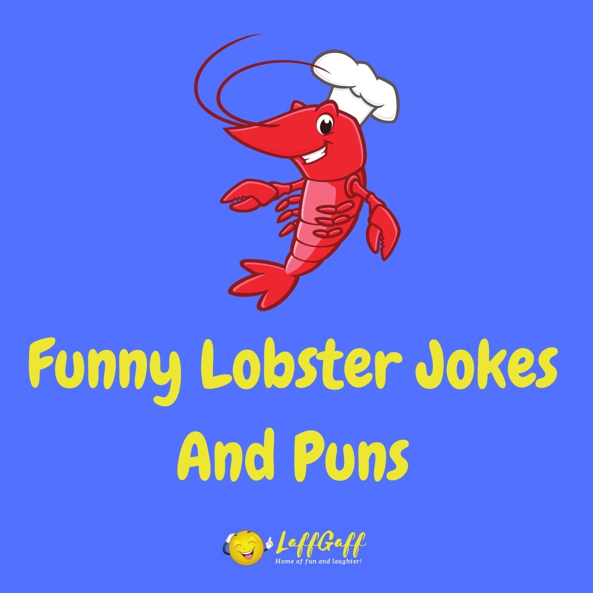 Featured image for a page of funny lobster jokes and puns.