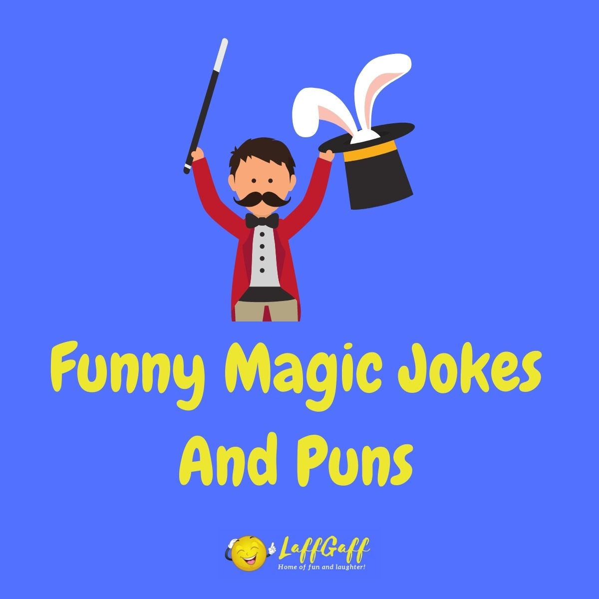 Featured image for a page of funny magic jokes and puns.