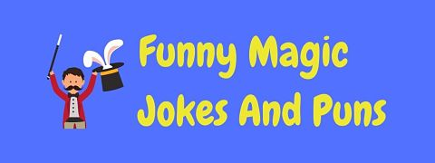 Header image for a page of funny magic jokes and puns.