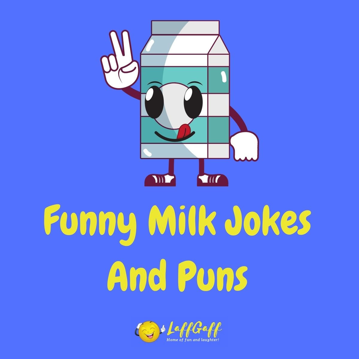 Featured image for a page of funny milk jokes and puns.