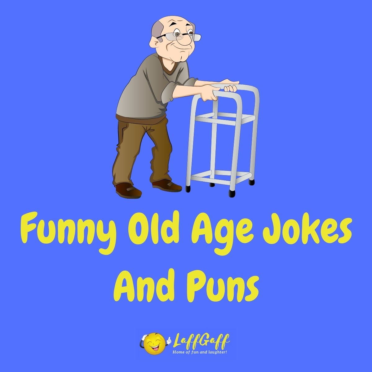 Featured image for a page of funny old age jokes and puns.