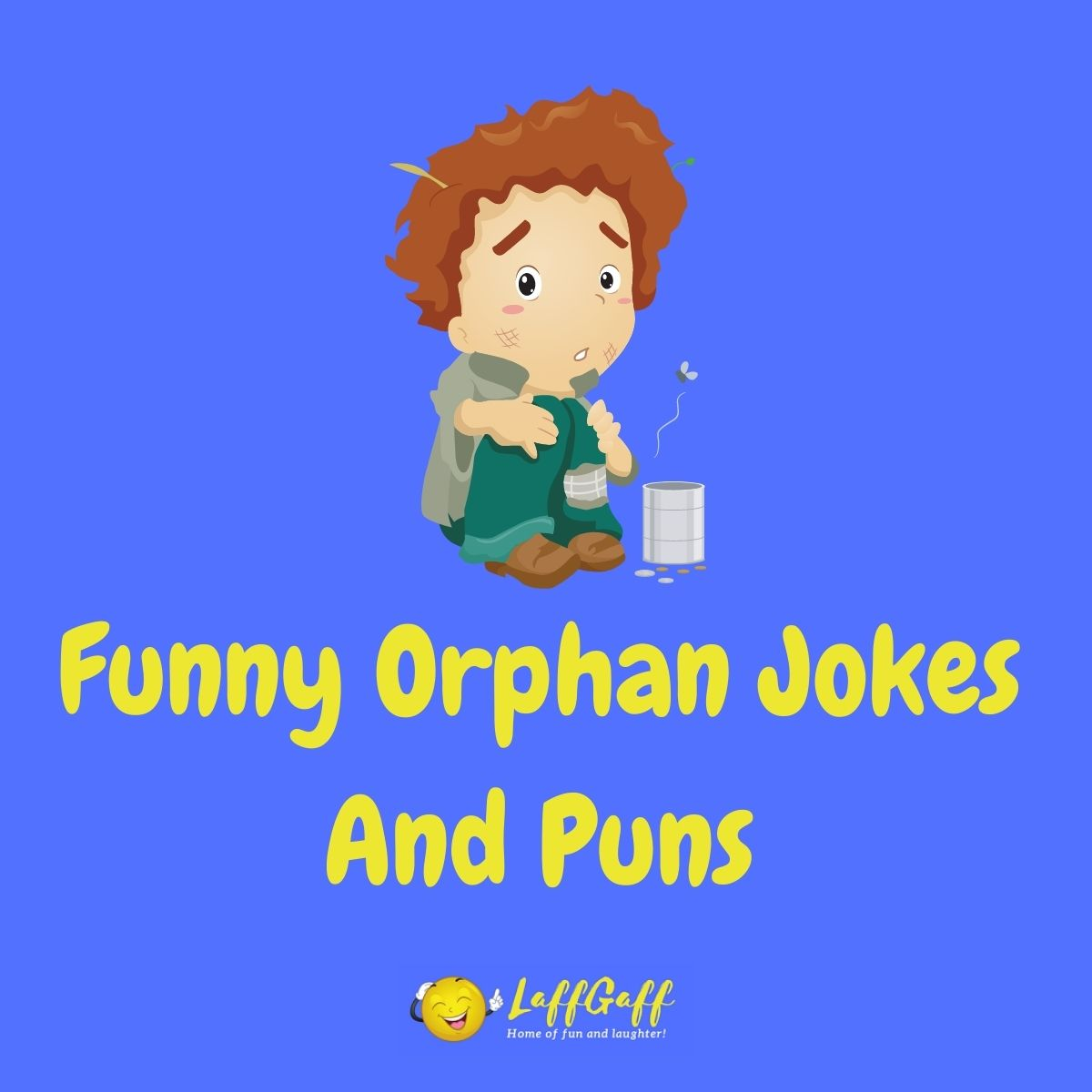 Featured image for a page of funny orphan jokes and puns.