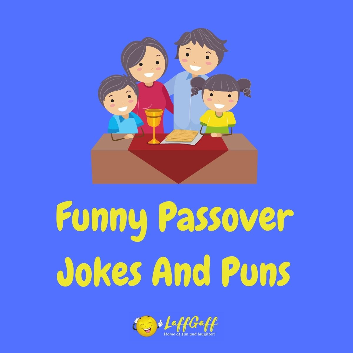 Featured image for a page of funny Passover jokes and puns.