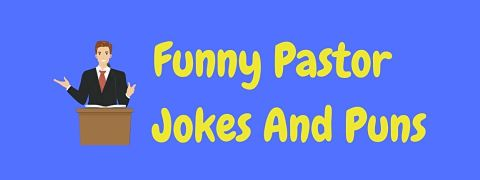 Header image for a page of funny pastor jokes and puns.